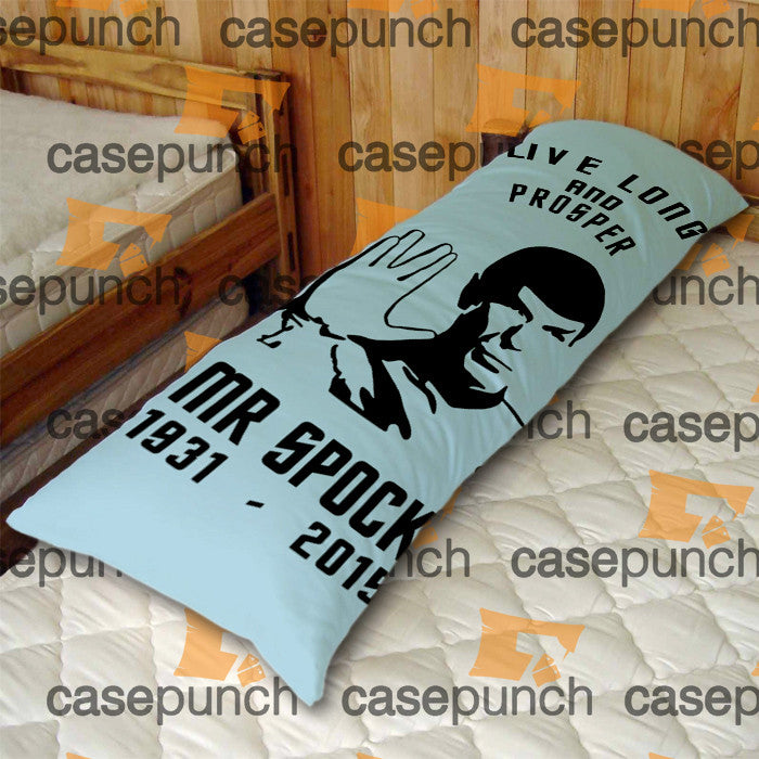 An1-rip Leonard Limoy  Mr Spock Memorial Body Pillow Case