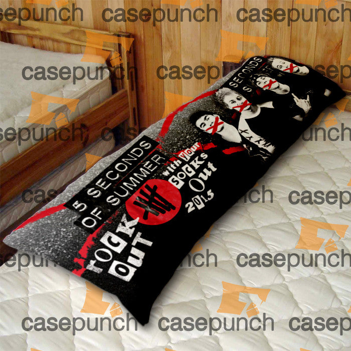 An1-rock Out With Your Socks Out Tour 5 Sos  Body Pillow Case