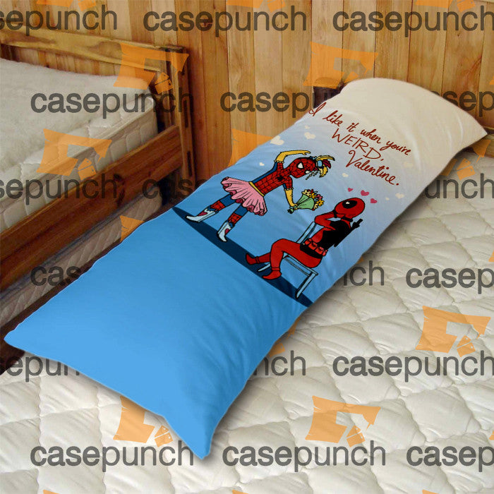 An1-spiderman Hearts Deadpool In Valentine Body Pillow Case