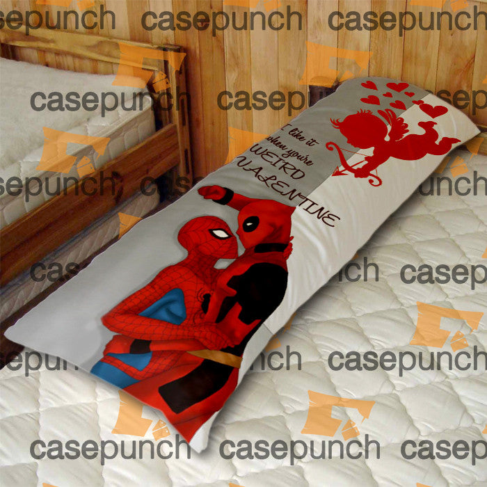 An3-spiderman Hearts Deadpool In Valentine Body Pillow Case