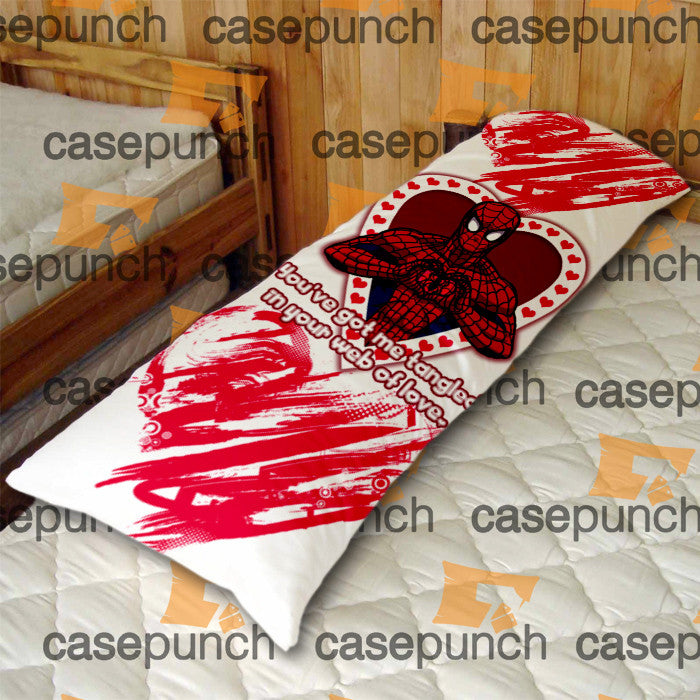 An4-spiderman Hearts Deadpool In Valentine Body Pillow Case