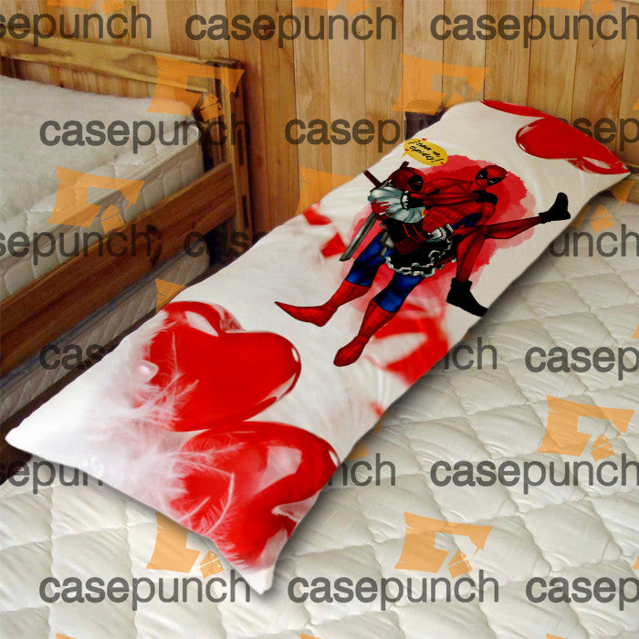 An5-spiderman Hearts Deadpool In Valentine Body Pillow Case