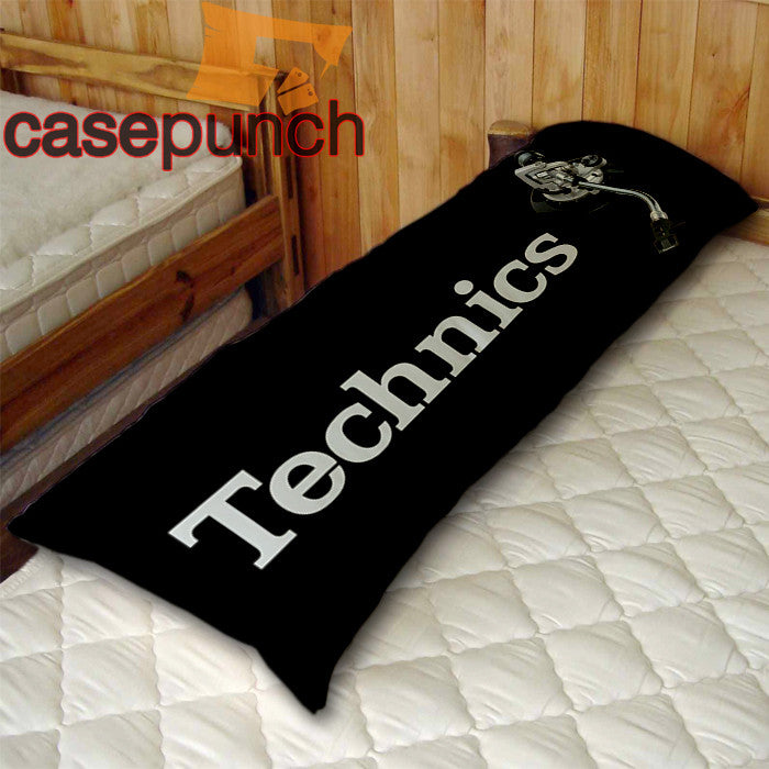 An1-technics Logo Dj Body Pillow Case