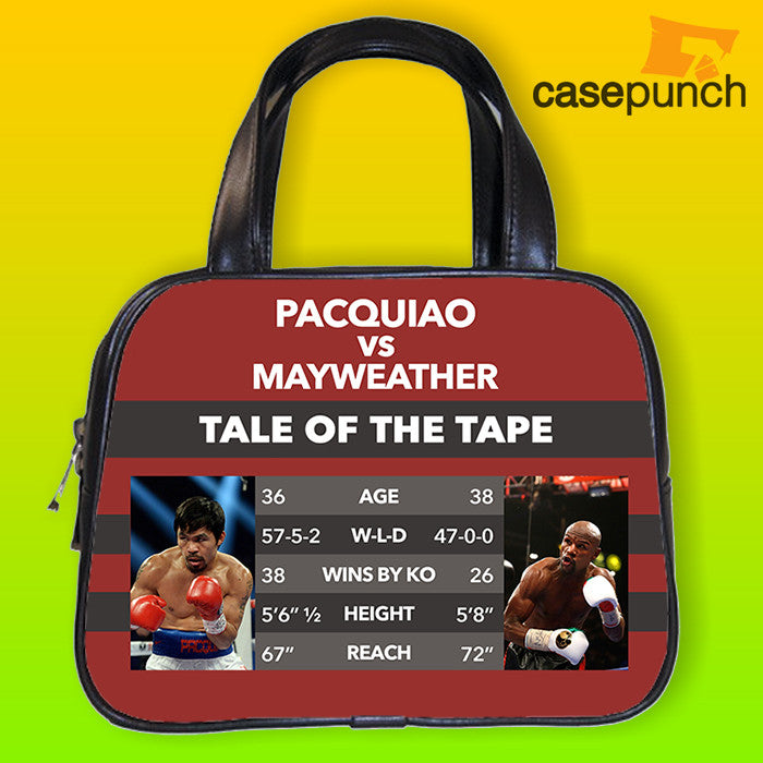 An1-tale Of The Tape Pacquiao Vs Mayweather Handbag Purse Woman Bag Classic