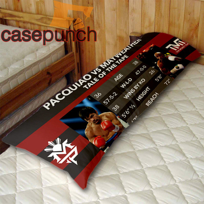 An1-tale Of The Tape Pacquiao Vs Mayweather Body Pillow Case