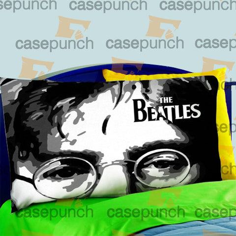 Mz6-the Beatles Logo John Lennon Pillow Case For Bed Bedding