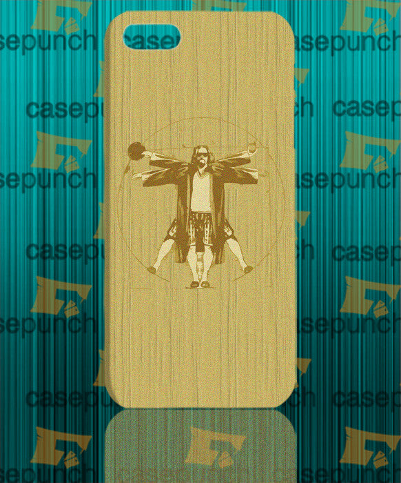 Mz3-the Big Lebowski Vitruvian Dude For Iphone 6 6 Plus 5 5s Galaxy S5 S5 Mini S4 & Other Smartphone Hard Back Case Cover