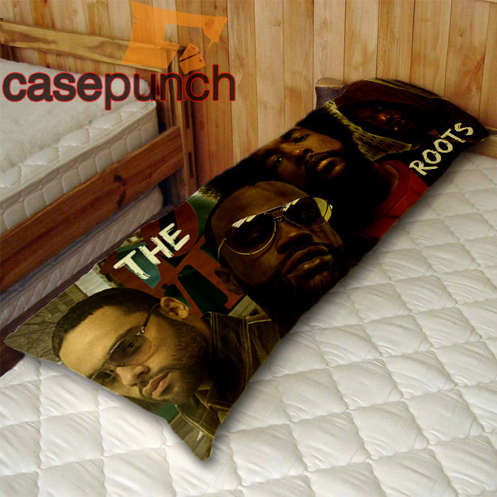 An1-the Roots Questlove Black Thought Body Pillow Case