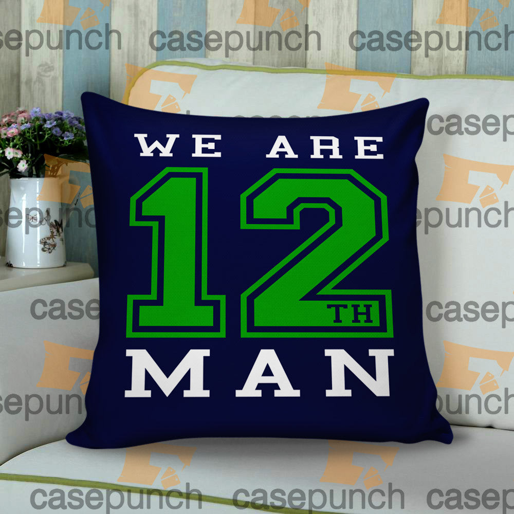 Sr3-we Are The 12th Man Seattle Seahawks Cushion Pillow Case