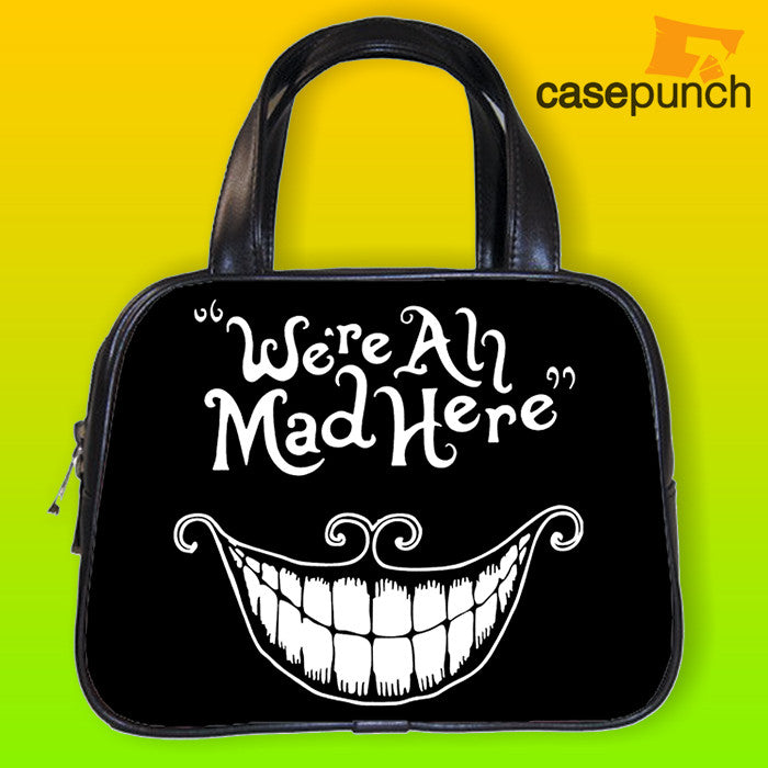 An1-we're All Mad Here Funny Cool Movie Handbag Purse Woman Bag Classic