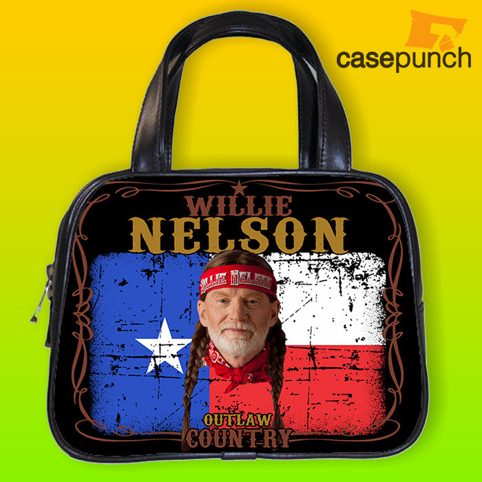 An1-willie Nelson Flag Country Handbag Purse Woman Bag Classic