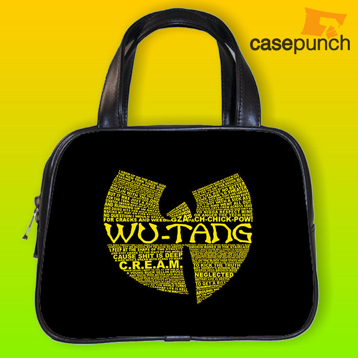 An1-wu Tang Typography Logo Handbag Purse Woman Bag Classic