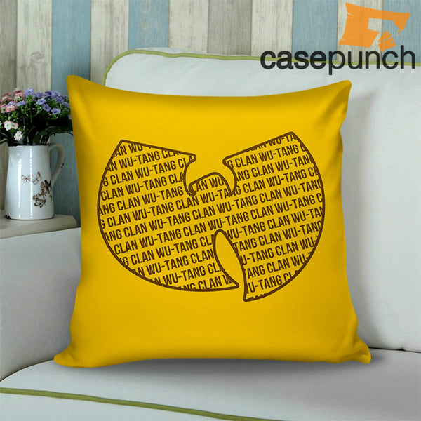 41a17ca9fbf4 Sr1-wu Tang Typography Logo Throw Pillow Cushion Case