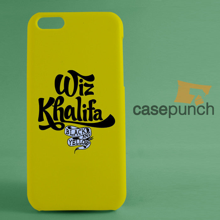 best service af522 05053 Mz1-wiz Khalifa Black And Yellow Logo For Iphone 6 6 Plus 5 5s Galaxy S6 S5  S5 Mini S4 & Other Smartphone Hard Back Case Cover