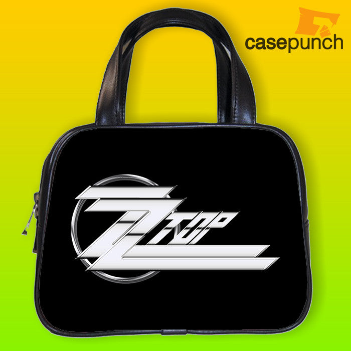 An1-zz Top - Distressed Logo Handbag Purse Woman Bag Classic