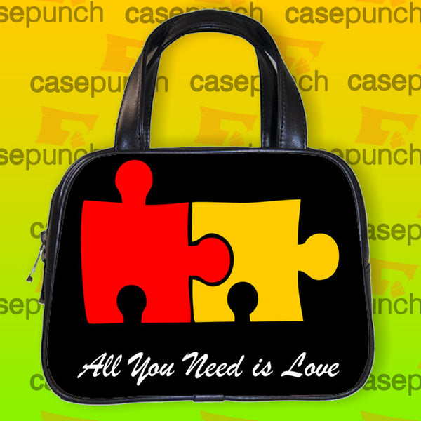 An1-all You Need Is Love Funny Doggy Style Handbag Purse Woman Bag Classic