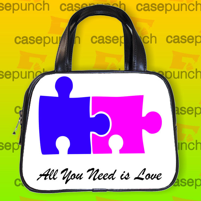 An2-all You Need Is Love Funny Doggy Style Handbag Purse Woman Bag Classic