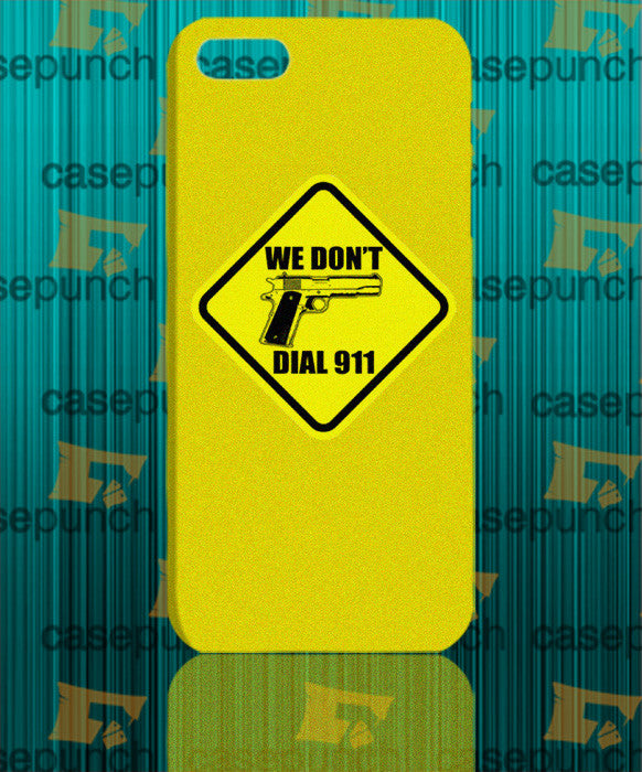 Mz3-funny Pro Gun I Don't Dial 911 For Iphone 6 6 Plus 5 5s Galaxy S5 S5 Mini S4 & Other Smartphone Hard Back Case Cover