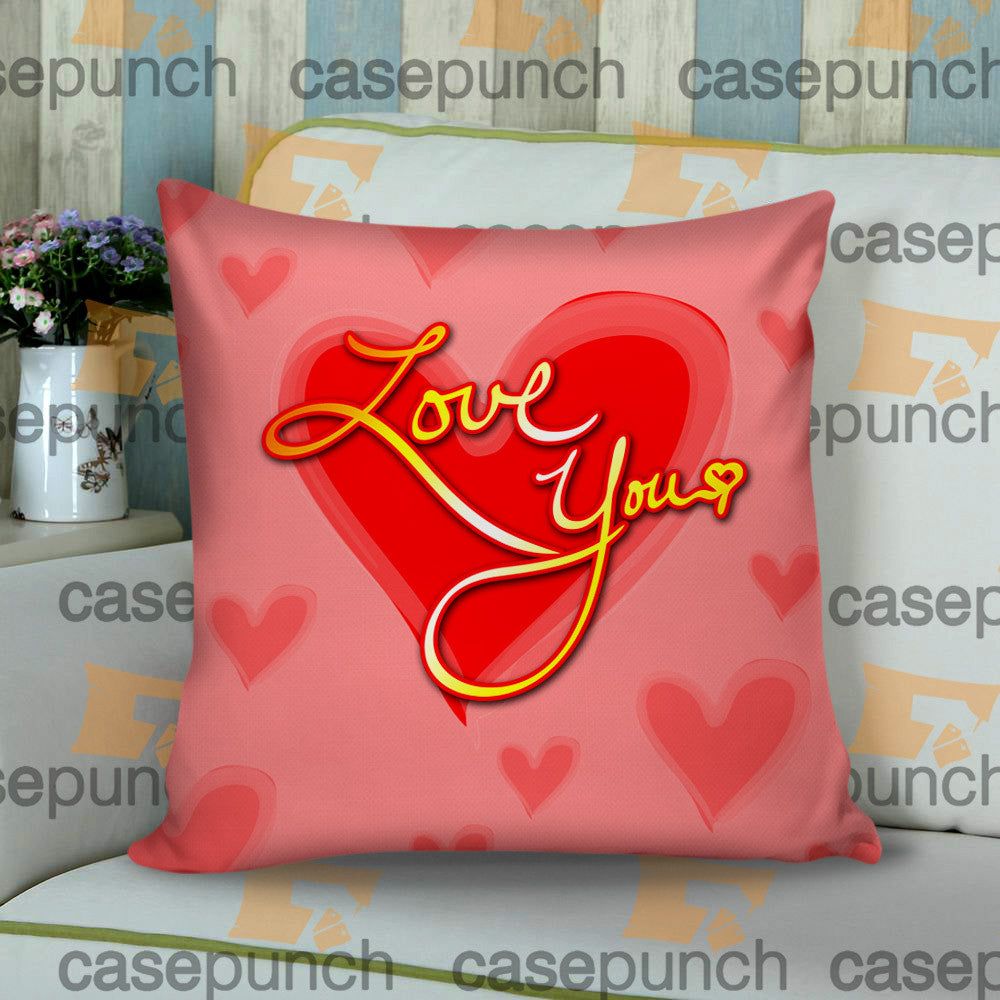 Sr2-heart For Valentine's Day Gift Cushion Pillow Case