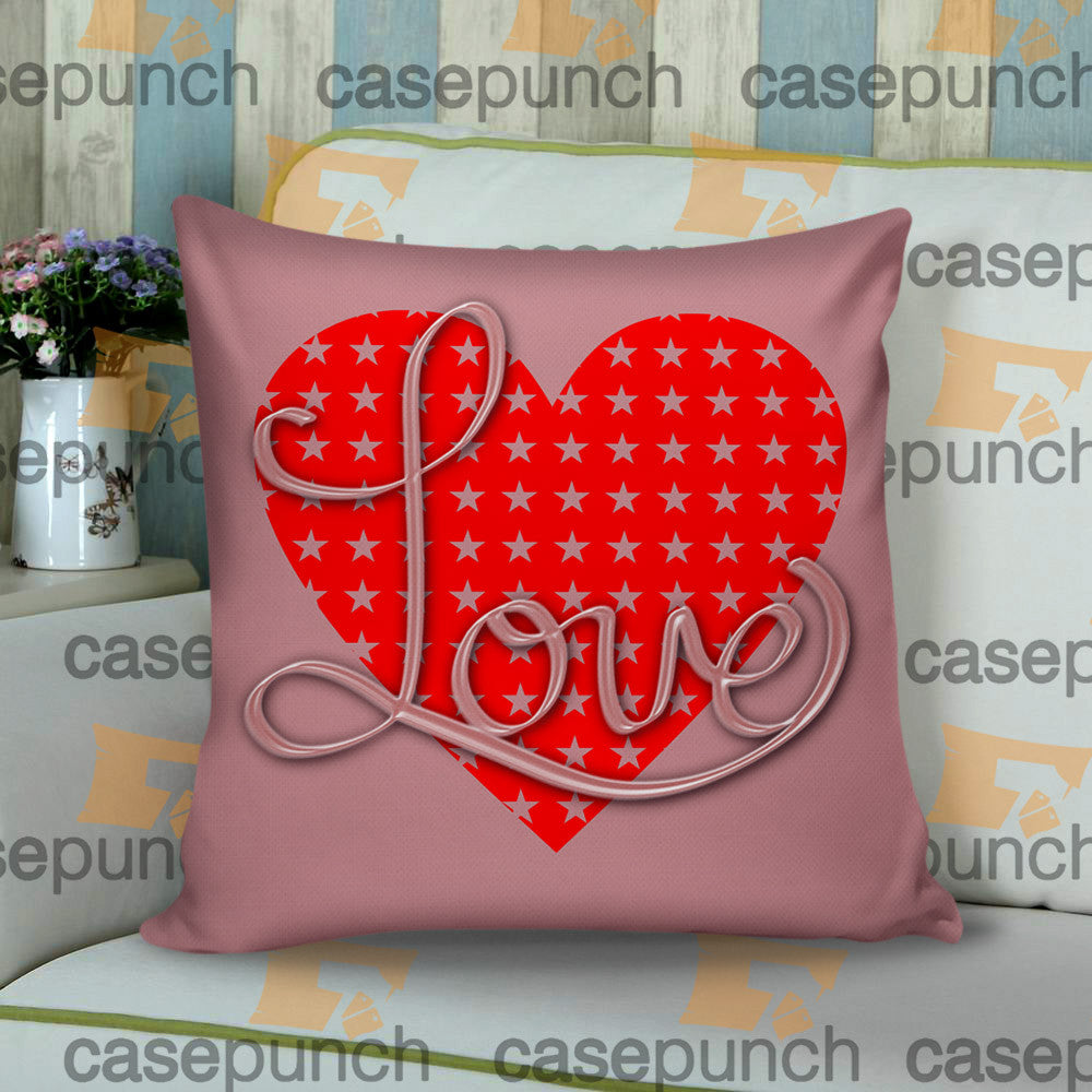Sr3-heart For Valentine's Day Gift Cushion Pillow Case