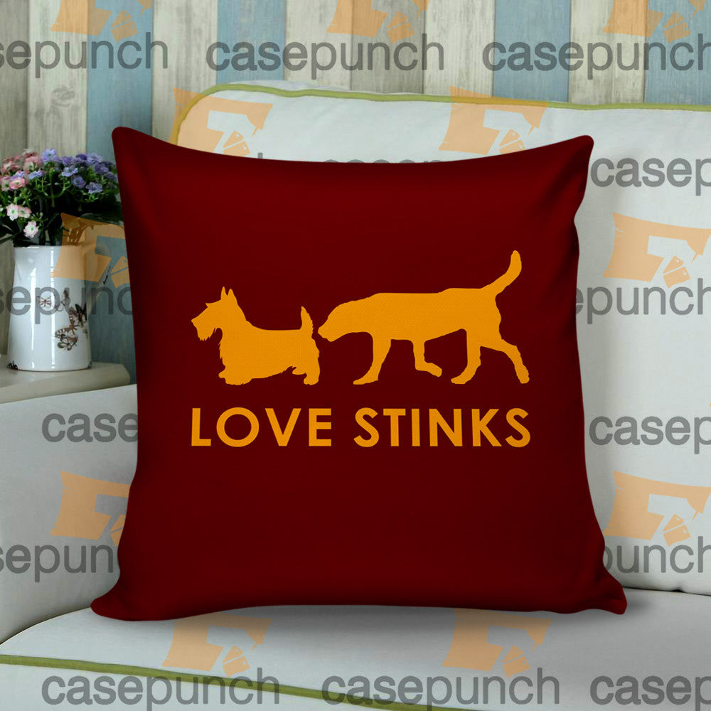 Sr1-love Stinks Funny Valentine's Day Cushion Pillow Case