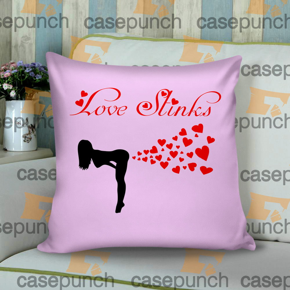 Sr3-love Stinks Funny Valentine's Day Cushion Pillow Case