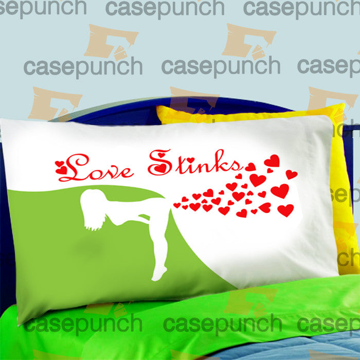 Mz4-love Stinks Funny Valentine's Day Pillow Case For Bed Bedding