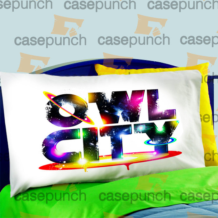 Mz2-owl City Music Group Logo Pillow Case For Bed Bedding