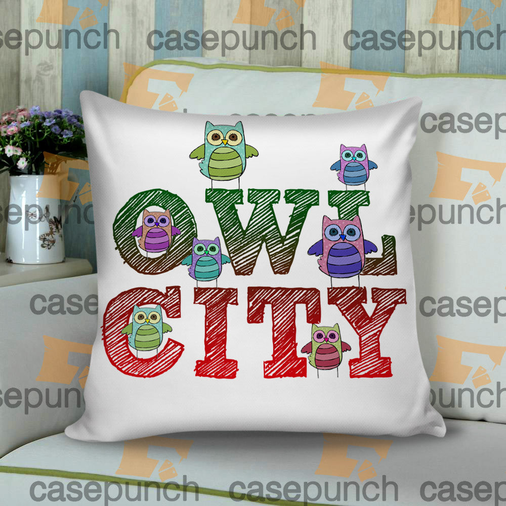 Sr6-owl City Music Group Logo Cushion Pillow Case