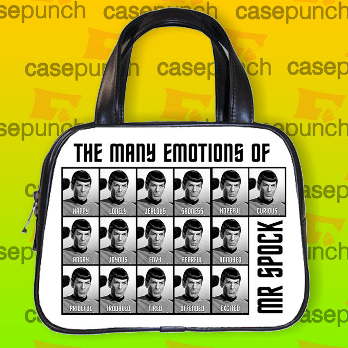 An1-the Many Emotions Of Mr Spock Handbag Purse Woman Bag Classic