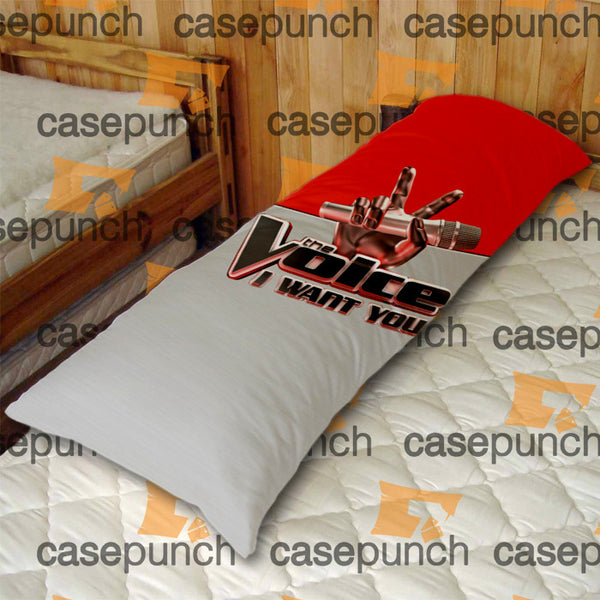 An1-the Voice Tv Show I Want You Logo Body Pillow Case