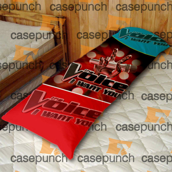 An2-the Voice Tv Show I Want You Logo Body Pillow Case
