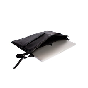 Mac Case Black - Deri MacBook Çantası