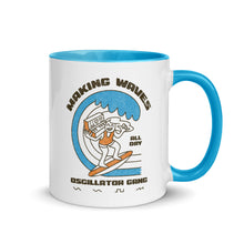"Load image into Gallery viewer, ""Oscillator Gang - Making Waves"" Mug"