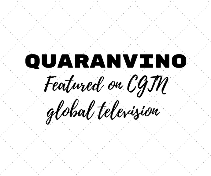 Quaranvino featured on China Global Television Network