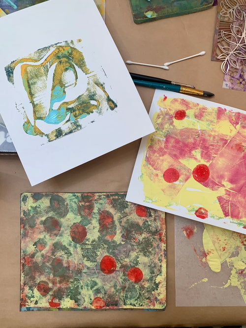 Gelli Printing with Tasha from Sprovtsoff Studios