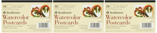 Strathmore Watercolor Postcards, 3 Pads