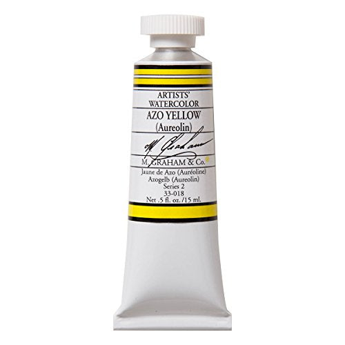 M. Graham 1/2-Ounce Tube Watercolor Paint, AZO Yellow (33-018)