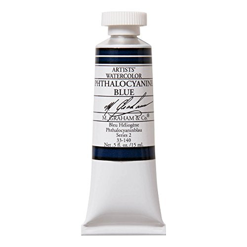 M. Graham 1/2-Ounce Tube Watercolor Paint, Phthalo Blue