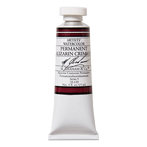 M. Graham 1/2-Ounce Tube Watercolor Paint, Permanent Alizarin Crimson