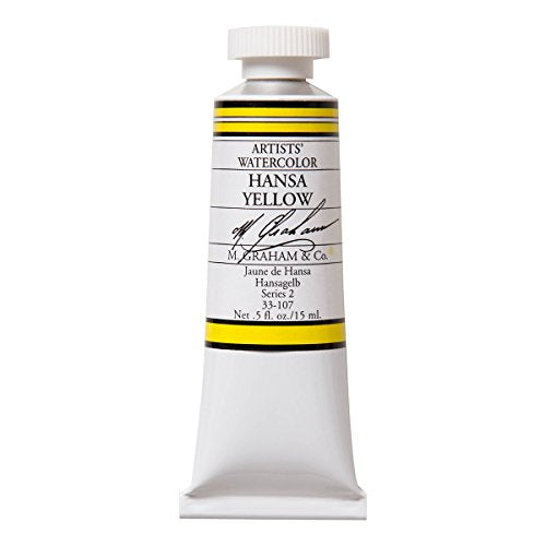 M. Graham 1/2-Ounce Tube Watercolor Paint, Hansa Yellow (33-107)