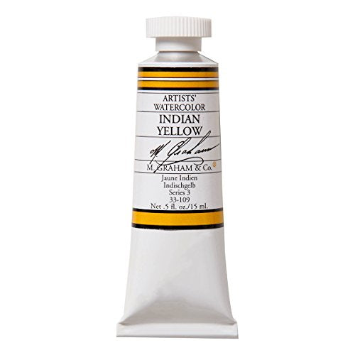 M. Graham 1/2-Ounce Tube Watercolor Paint, Indian Yellow