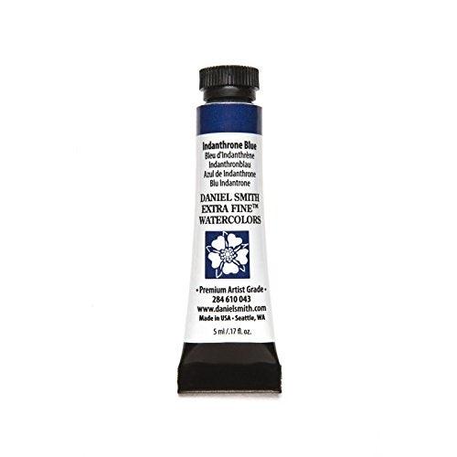 DANIEL SMITH 284610043 Extra Fine Watercolors Tube, 5ml, Indanthrone Blue