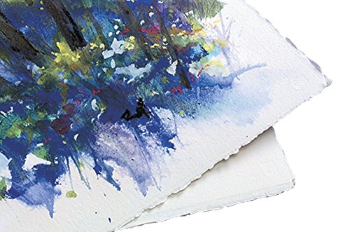 10x12.5-350 GSM Watercolor Cold Press Paper Albums Wanderings Blue Suede Leather Watercolor Journal with Handmade Deckle Edge Paper for Scrapbooks