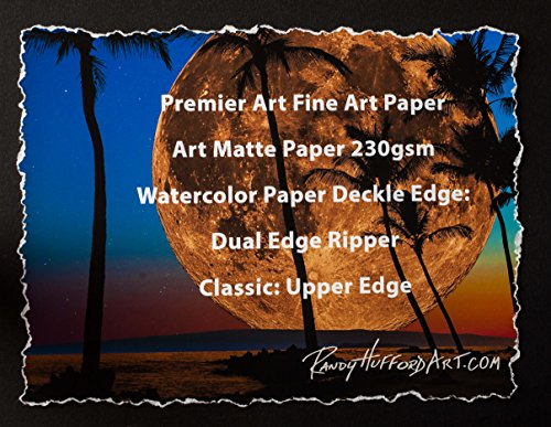 Dual Edge Ripper Classic Watercolor Paper Deckle Edge Tool 1-24 inch