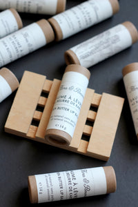 Lip Balm : shea butter balm in eco friendly paper tube
