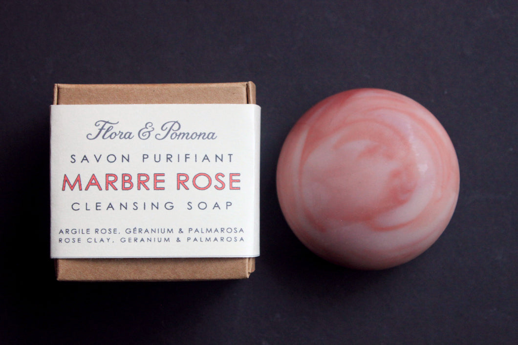 Pink Marble : cleansing soap stone