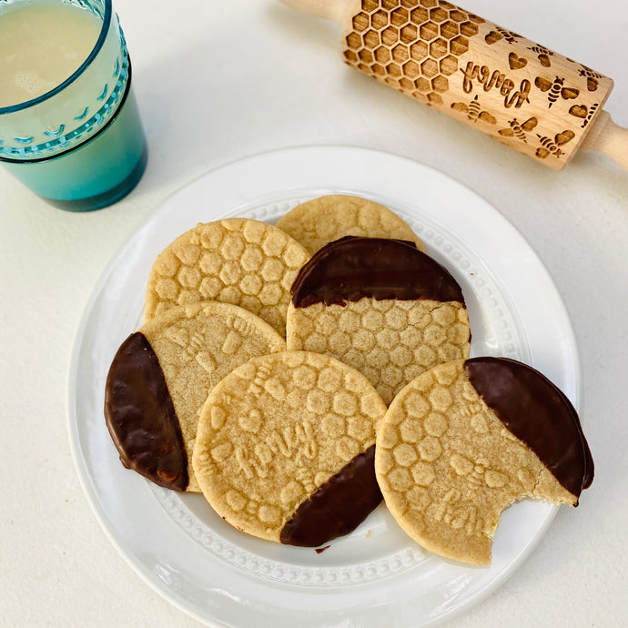Chocolate-Dipped Embossed Sugar Cookies