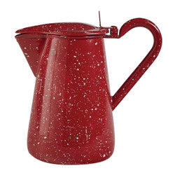 Red Enamel Pitcher