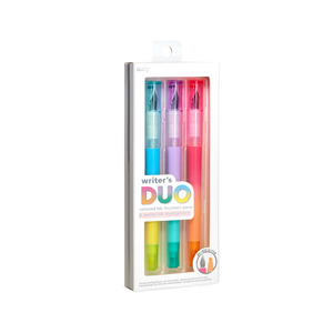Writer's Duo 2 in 1 Fountain Pens and Highlighters